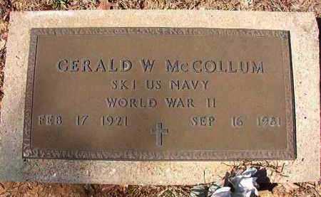 MCCOLLUM (VETERAN WWII), GERALD W - Dallas County, Arkansas   GERALD W MCCOLLUM (VETERAN WWII) - Arkansas Gravestone Photos