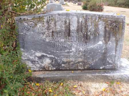 BROWN MCCULLOUGH, MATTIE LUCY - Dallas County, Arkansas | MATTIE LUCY BROWN MCCULLOUGH - Arkansas Gravestone Photos