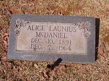 LAUNIUS MCDANIEL, ALICE - Dallas County, Arkansas   ALICE LAUNIUS MCDANIEL - Arkansas Gravestone Photos