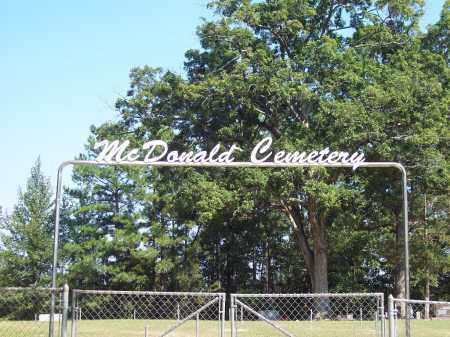 *MCDONALD, CEMETERY GATE - Dallas County, Arkansas | CEMETERY GATE *MCDONALD - Arkansas Gravestone Photos