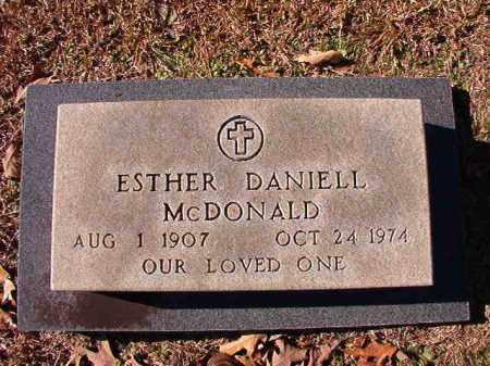 DANIELL MCDONALD, ESTHER - Dallas County, Arkansas | ESTHER DANIELL MCDONALD - Arkansas Gravestone Photos