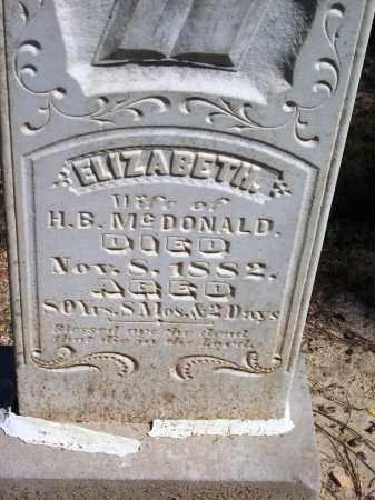 MCDONALD, ELIZABETH - Dallas County, Arkansas | ELIZABETH MCDONALD - Arkansas Gravestone Photos