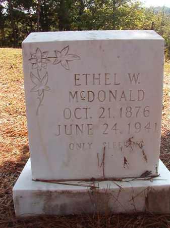 MCDONALD, ETHEL W - Dallas County, Arkansas | ETHEL W MCDONALD - Arkansas Gravestone Photos