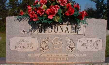 DAILY MCDONALD, ESTHER M - Dallas County, Arkansas | ESTHER M DAILY MCDONALD - Arkansas Gravestone Photos