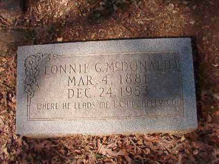 MCDONALD, LONNIE G - Dallas County, Arkansas   LONNIE G MCDONALD - Arkansas Gravestone Photos