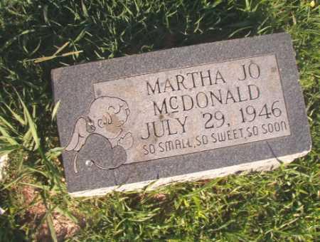 MCDONALD, MARTHA JO - Dallas County, Arkansas | MARTHA JO MCDONALD - Arkansas Gravestone Photos
