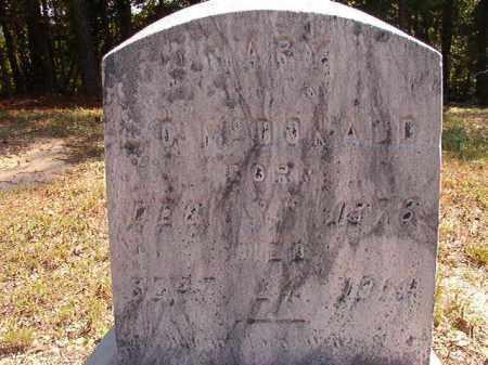 MCDONALD, MARY - Dallas County, Arkansas   MARY MCDONALD - Arkansas Gravestone Photos