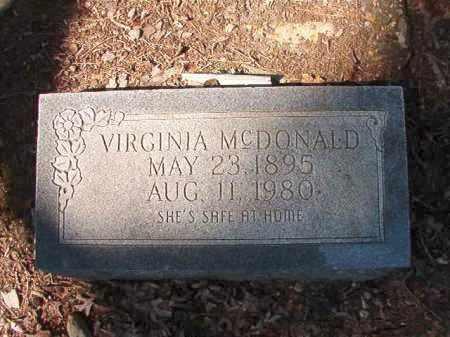 MCDONALD, VIRGINIA - Dallas County, Arkansas | VIRGINIA MCDONALD - Arkansas Gravestone Photos