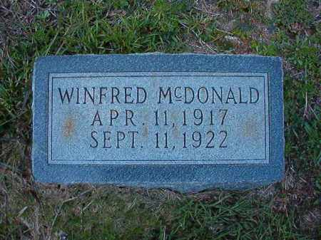 MCDONALD, WINFRED - Dallas County, Arkansas | WINFRED MCDONALD - Arkansas Gravestone Photos