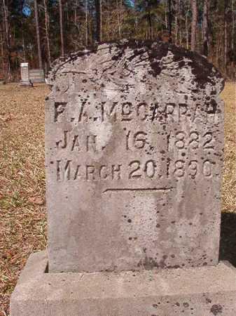 MCGARRAH, F A - Dallas County, Arkansas | F A MCGARRAH - Arkansas Gravestone Photos