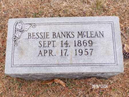 BANKS MCLEAN, BESSIE - Dallas County, Arkansas | BESSIE BANKS MCLEAN - Arkansas Gravestone Photos