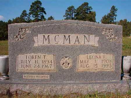 MCMAN, LOREN T - Dallas County, Arkansas | LOREN T MCMAN - Arkansas Gravestone Photos