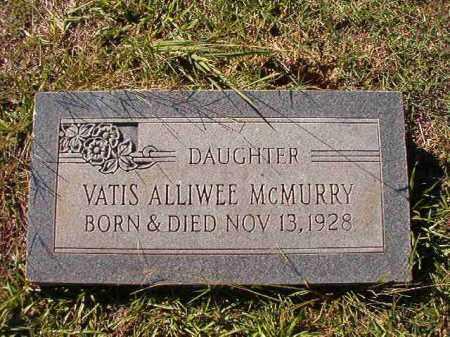 MCMURRY, VATIS ALLIWEE - Dallas County, Arkansas | VATIS ALLIWEE MCMURRY - Arkansas Gravestone Photos