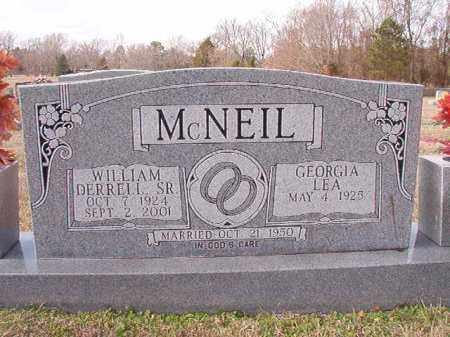 MCNEIL, SR, WILLIAM DERRELL - Dallas County, Arkansas | WILLIAM DERRELL MCNEIL, SR - Arkansas Gravestone Photos
