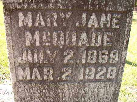 MCQUADE, MARY JANE - Dallas County, Arkansas | MARY JANE MCQUADE - Arkansas Gravestone Photos