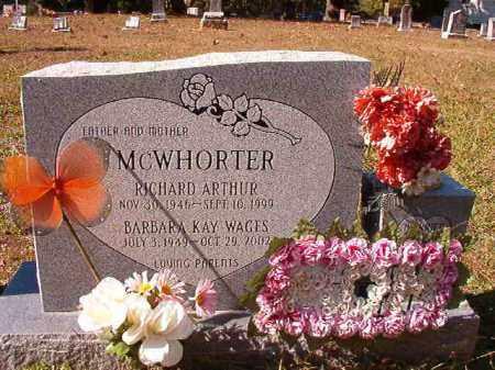 MCWHORTER, RICHARD ARTHUR - Dallas County, Arkansas | RICHARD ARTHUR MCWHORTER - Arkansas Gravestone Photos