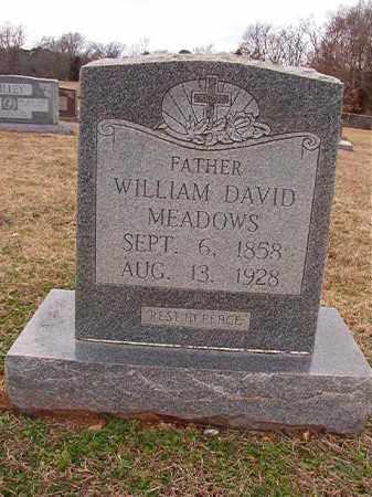 MEADOWS, WILLIAM DAVID - Dallas County, Arkansas | WILLIAM DAVID MEADOWS - Arkansas Gravestone Photos