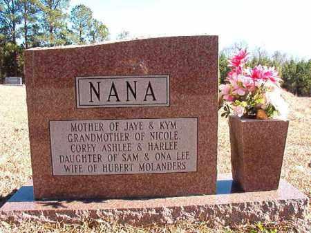 MOLANDERS, NANCY (BACK) - Dallas County, Arkansas | NANCY (BACK) MOLANDERS - Arkansas Gravestone Photos