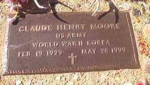 MOORE (VETERAN 2 WARS), CLAUDE HENRY - Dallas County, Arkansas   CLAUDE HENRY MOORE (VETERAN 2 WARS) - Arkansas Gravestone Photos