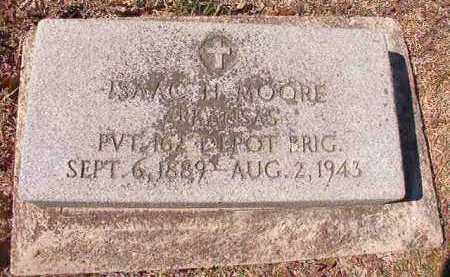 MOORE, (VETERAN), ISAAC H - Dallas County, Arkansas   ISAAC H MOORE, (VETERAN) - Arkansas Gravestone Photos