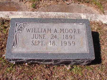 MOORE, WILLIAM A - Dallas County, Arkansas   WILLIAM A MOORE - Arkansas Gravestone Photos