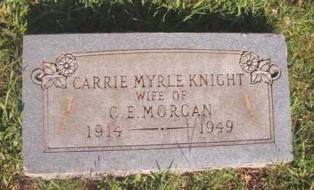 KNIGHT MORGAN, CARRIE MYRLE - Dallas County, Arkansas | CARRIE MYRLE KNIGHT MORGAN - Arkansas Gravestone Photos
