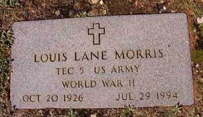 MORRIS (VETERAN WWII), LOUIS LANE - Dallas County, Arkansas   LOUIS LANE MORRIS (VETERAN WWII) - Arkansas Gravestone Photos