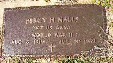 NALLS (VETERAN WWII), PERCY H - Dallas County, Arkansas | PERCY H NALLS (VETERAN WWII) - Arkansas Gravestone Photos