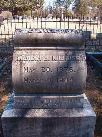 NIEHUSS, MARIAH E - Dallas County, Arkansas | MARIAH E NIEHUSS - Arkansas Gravestone Photos