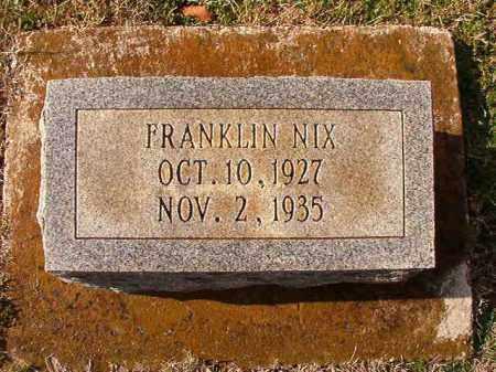 NIX, FRANKLIN - Dallas County, Arkansas | FRANKLIN NIX - Arkansas Gravestone Photos