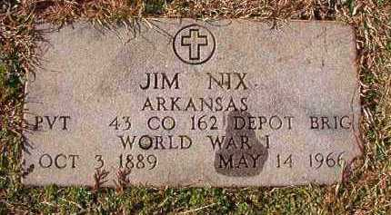 NIX (VETERAN WWI), JIM - Dallas County, Arkansas | JIM NIX (VETERAN WWI) - Arkansas Gravestone Photos