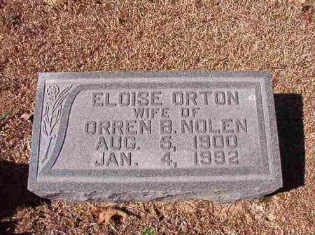 ORTON NOLEN, ELOISE - Dallas County, Arkansas | ELOISE ORTON NOLEN - Arkansas Gravestone Photos