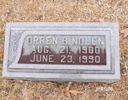 NOLEN, ORREN B - Dallas County, Arkansas | ORREN B NOLEN - Arkansas Gravestone Photos