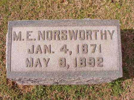 NORSWORTHY, M E - Dallas County, Arkansas | M E NORSWORTHY - Arkansas Gravestone Photos
