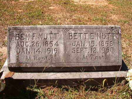 NUTT, BETTIE - Dallas County, Arkansas | BETTIE NUTT - Arkansas Gravestone Photos