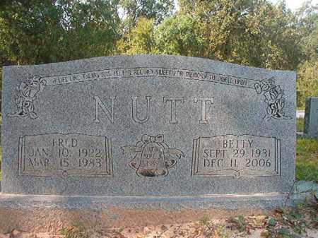 NUTT, BETTY - Dallas County, Arkansas | BETTY NUTT - Arkansas Gravestone Photos