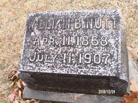 NUTT, WILLIAM B - Dallas County, Arkansas   WILLIAM B NUTT - Arkansas Gravestone Photos