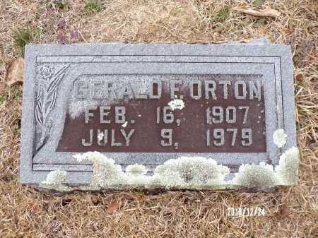 ORTON, GERALD F - Dallas County, Arkansas | GERALD F ORTON - Arkansas Gravestone Photos