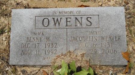 "OWENS, BENNY M ""MACK"" - Dallas County, Arkansas | BENNY M ""MACK"" OWENS - Arkansas Gravestone Photos"