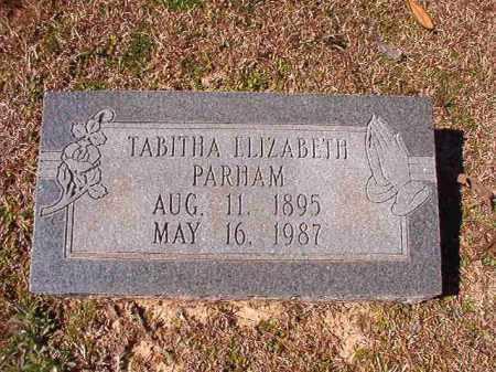 PARHAM, TABITHA ELIZABETH - Dallas County, Arkansas | TABITHA ELIZABETH PARHAM - Arkansas Gravestone Photos
