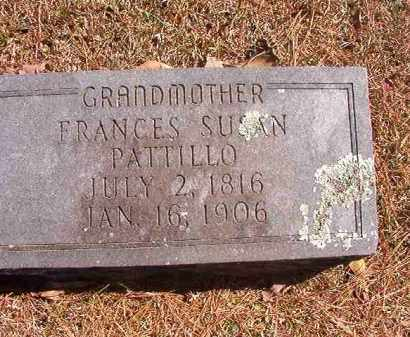 PATTILLO, FRANCES SUSAN - Dallas County, Arkansas | FRANCES SUSAN PATTILLO - Arkansas Gravestone Photos