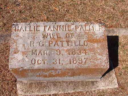 PALMER PATTILLO, HALLIE FANNIE - Dallas County, Arkansas | HALLIE FANNIE PALMER PATTILLO - Arkansas Gravestone Photos