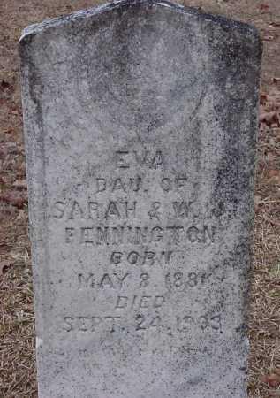 PENNINGTON, EVA - Dallas County, Arkansas | EVA PENNINGTON - Arkansas Gravestone Photos