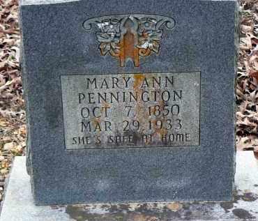 PENNINGTON, MARY ANN - Dallas County, Arkansas   MARY ANN PENNINGTON - Arkansas Gravestone Photos