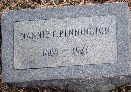 PENNINGTON, NANNIE E. - Dallas County, Arkansas | NANNIE E. PENNINGTON - Arkansas Gravestone Photos