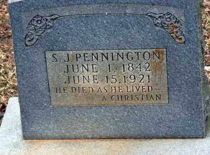 PENNINGTON, S. J. - Dallas County, Arkansas | S. J. PENNINGTON - Arkansas Gravestone Photos