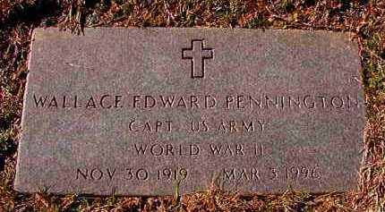 PENNINGTON (VETERAN WWII), WALLACE EDWARD - Dallas County, Arkansas | WALLACE EDWARD PENNINGTON (VETERAN WWII) - Arkansas Gravestone Photos