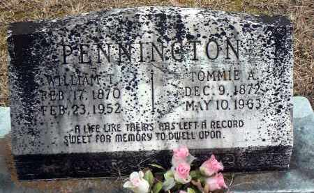 PENNINGTON, TOMMIE A. - Dallas County, Arkansas   TOMMIE A. PENNINGTON - Arkansas Gravestone Photos