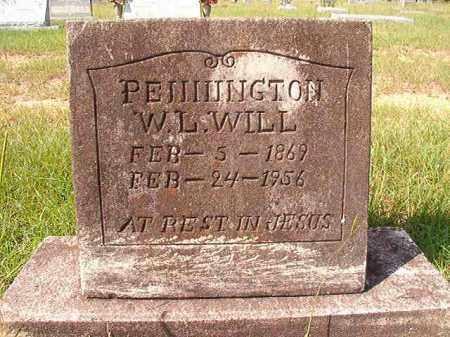 "PENNINGTON, W L ""WILL"" - Dallas County, Arkansas   W L ""WILL"" PENNINGTON - Arkansas Gravestone Photos"