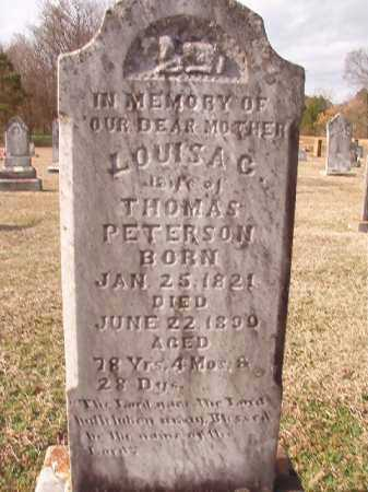MAHAN PETERSON, LOUISA G - Dallas County, Arkansas | LOUISA G MAHAN PETERSON - Arkansas Gravestone Photos